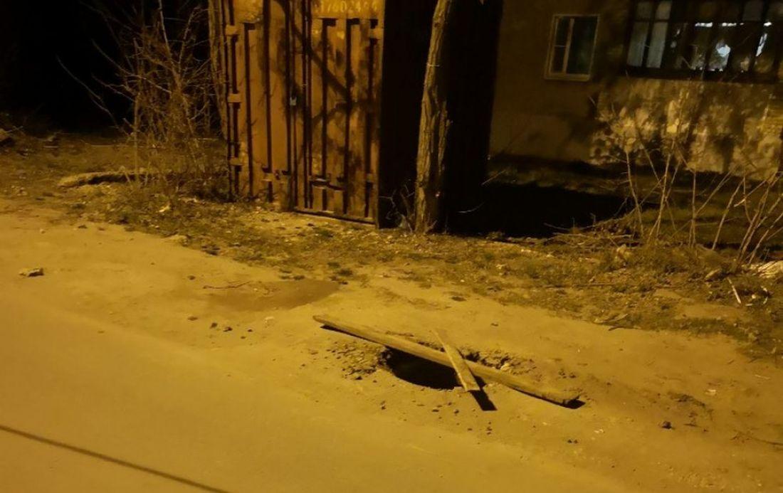 В райцентре Пензенской области коммунальщики оставили «ловушку» для пешеходов