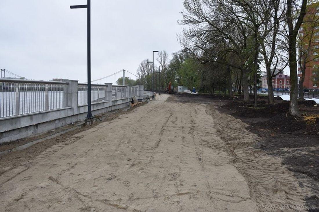 В Пензе начали реконструкцию верхней прогулочной зоны на набережной Суры